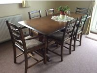 Priory Old Charm Dining Table and Chairs Quality Furniture in very good condition