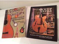 2 x Classic Acoustic Guitar Books / Luthier - job lot