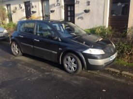 Renault Megane Dynamic 16v with panoramic sunroof 2004. MOT to end March. Good little runner. £500