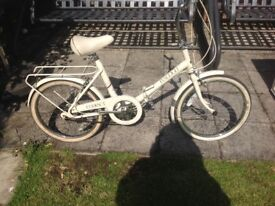 Raleigh folding bike. Hardly used £55