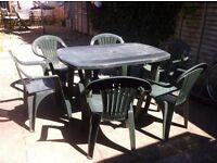 Garden Table with six chairs