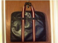 Vintage Bally Men's Chocolate Brown Stripe Leather Suit Carrier Luggage