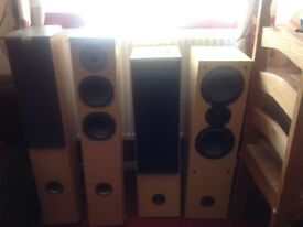 Eltax concept 500 speakers ( larger ones) aural envelope e.x300 (smaller ones) £35each pair