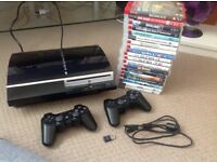 PlayStation 3 19 games 2 controllers
