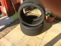 Two tyres like new size 285/30/zr20, still have nobbly bits on