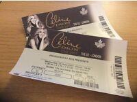 2 Celine Dion Concert Tickets O2 Wed 21 June