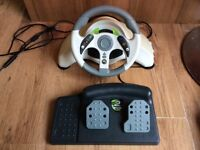 Xbox 360 MC2 Mad Catz Steering Wheel Spear or Repair