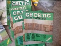 CELTIC FC COLLECTION OF OLD PROGRAMMES