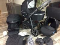 Venicci prestige Black Travel System Pram Pushchair