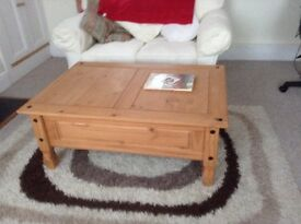 Large coffee table and occasional table