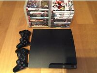 PS3 slim 300gb + 25 games (excellent condition)