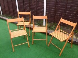 Garden fold up teak wood chairs