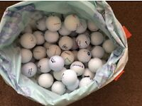 100x PRACTICE GOLF BALLS NO RIPS OR TEARS COLLECT ROMFORD RM5 TITLEIST & VARIOS BRANDS NIKE WILSON