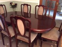 dining table and six chairs £25.00