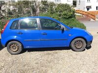 Ford Fiesta 1.4 TDCI for spares or repair. 2003, 140,000 miles, great runner, £30 tax, 60mpg