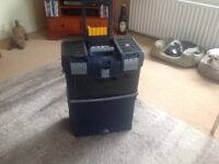 Roll along tool box,with various compartments,mastercart.
