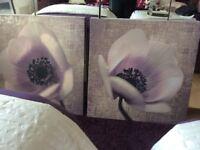 2 large canvas prints