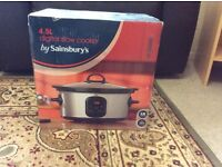 New 4.5 Litre digital slow cooker from Sainsbury's