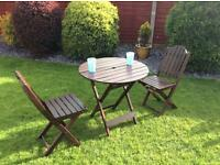 Two Seater Wooden Garden Patio Set (used)