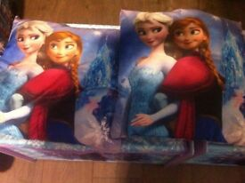 Frozen storage bin and lightshade and cushions