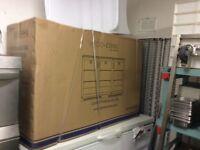 2x treble glass door bar fridges ( brand new in the box )