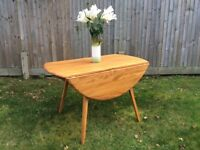 Oval folding Ercol dining table