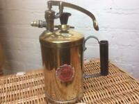 Vintage brass spray pump