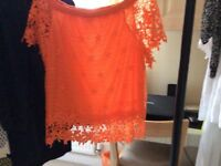 Orange lace+top and Office of London shoes