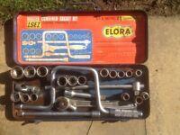 Elora socket set 1960/70s AF and metric sizes' complete