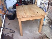 Table: solid pine