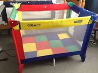Graco travel cot in good condition used only at grandparents house.