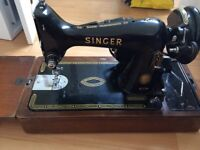 Singer Sewing Machine & Attachments