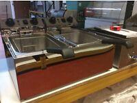 Electric fryer chrome 2 X 17L -IB0140