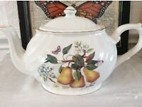 Arthur Wood Pear Design Bone China Tea Pot.