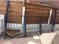 Heavy duty wrought iron gate bi folding