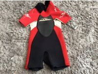 Alder neoprene wetsuit size 2xs (age 18mths-3)
