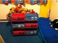THOMAS THE TANK ENGINE BEDROOM FURNITURE TOY/BOX 6 BOX STORAGE PICTURE