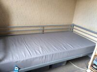 Ikea single bed and mattress