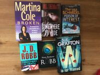 6 mystery/crime books for £5