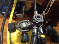 Mares Abyss MR22 Titanium Regulator VAD vortex assisted design plus Octopus
