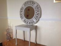 Mirror and Table 2 Piece Set