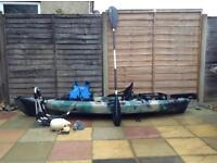 Fishing kayak sit on