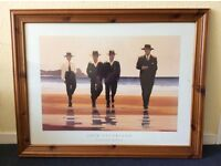 """Large Jack Vettriano Framed Print...""""The Billy Boys"""" Ready To Hang"""