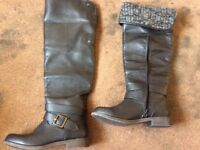Brand new Ladies size 5 black leather boots