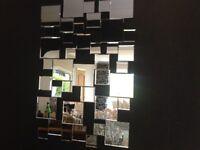 Contemporary modern bevelled edged mirror
