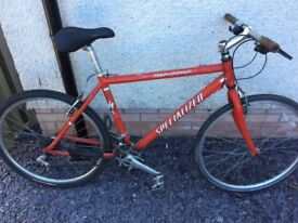 """Specialised Rockhopper Bicycle, 18"""" Frame, 24 Speed, £40, Road tyres, light and fast"""