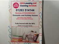 HHS Laundry services,cleaning services,fully insured and updated compliant Certs.