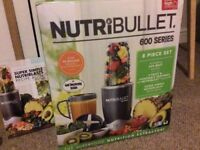 Brand New Boxed NutriBullet 600 Series Blender, 600 W, 8-Piece set, Black