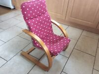 Wooden toddler armchair