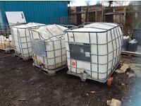 Used water butts x3 job lot IBC TANKS